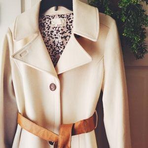 Anthropologie Trovata cream pea coat